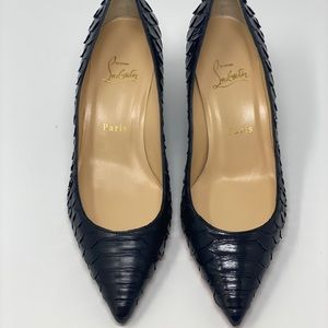 Christian Louboutin Shoes - Christian louboutin pipina 55 python crystal wedge